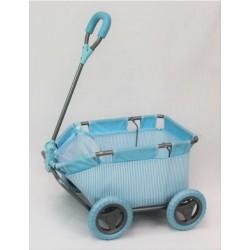 Blue Striped Dolls Wagon
