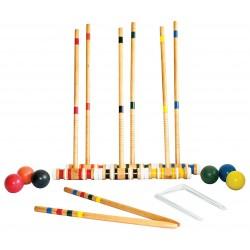 Complete Wooden Croquet Set