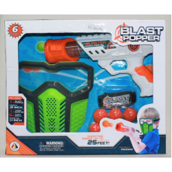 Air Popper Pistol With Face Shield
