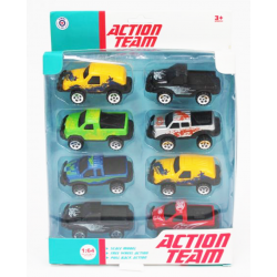 Action Team 8 Pack of Die Cast 4WD