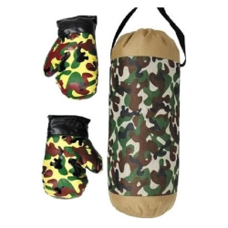 Camouflage Boxing Bag with Gloves