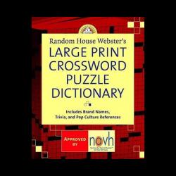 Large Print Crossword Dictionary