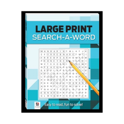 Large Print Search - A - Word (BLUE)