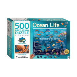 Ocean Life By Depth - 500 Pieces Jigsaw Puzzle