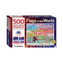 Flags Of The World By Colour - 500 Pieces Jigsaw Puzzle