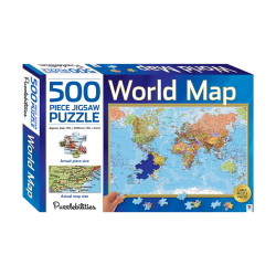 World Map - 500 Pieces Jigsaw Puzzle
