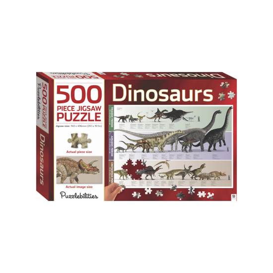 Dinosaurs - 500 Pieces Jigsaw Puzzle
