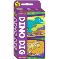 Dino Dig Flash Card Game (Ages 4-UP)